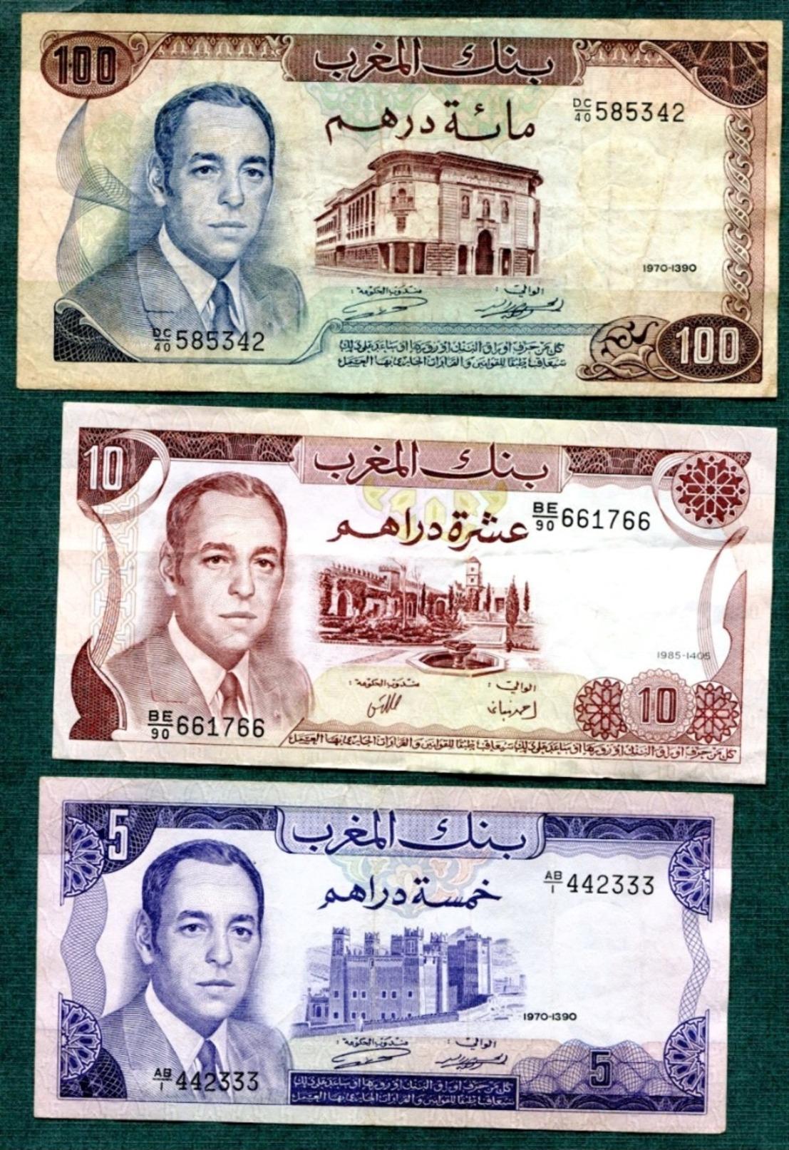 Maroc   5  Billets - Marokko