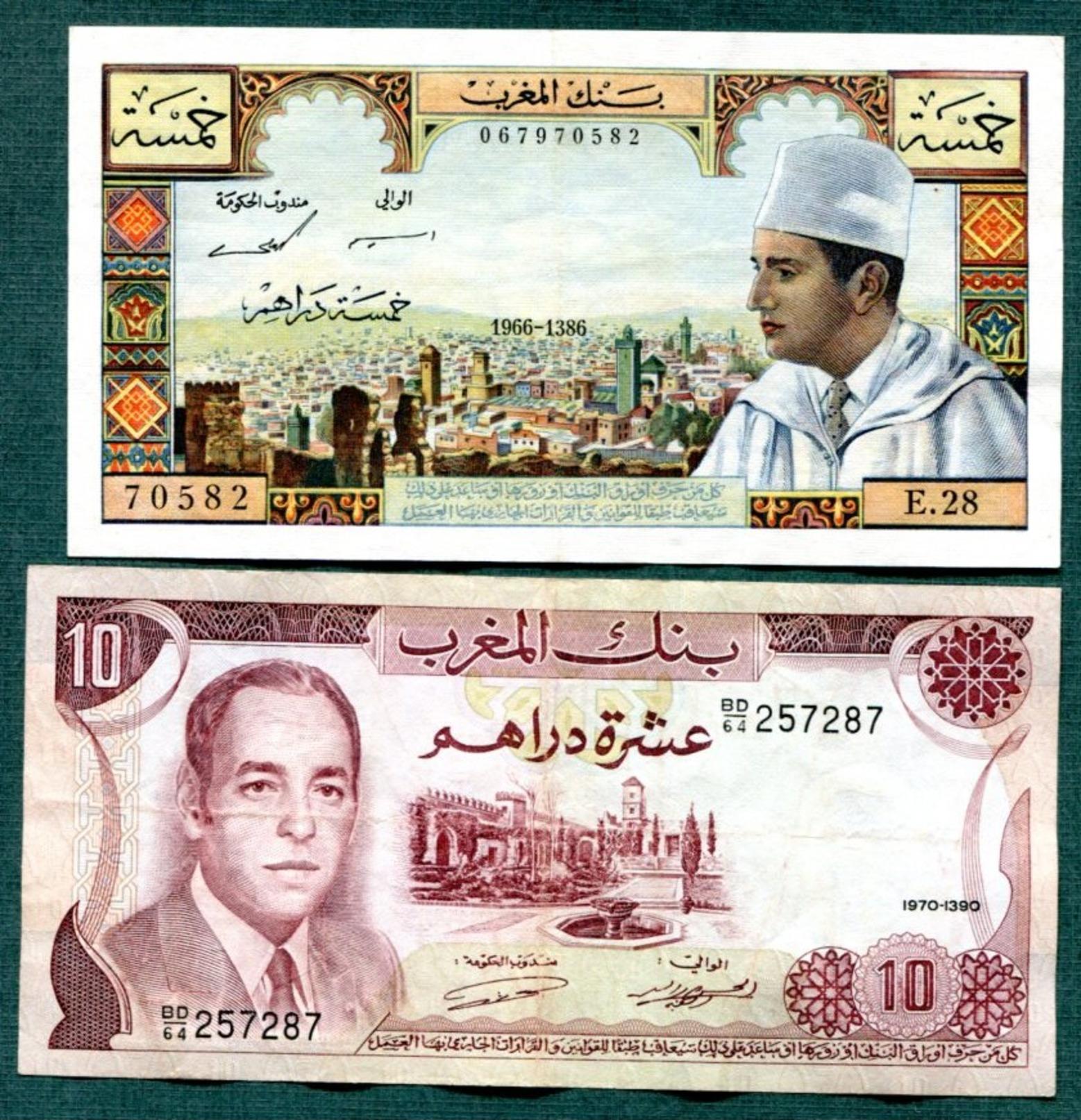 Maroc   5  Billets - Marocco