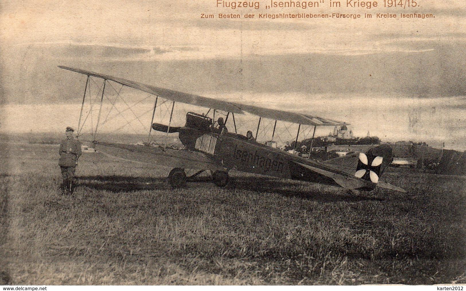 """AK Isenhagen, Flugzeug """"Isenhagen"""", Fürsorgekarte - Allemagne"""
