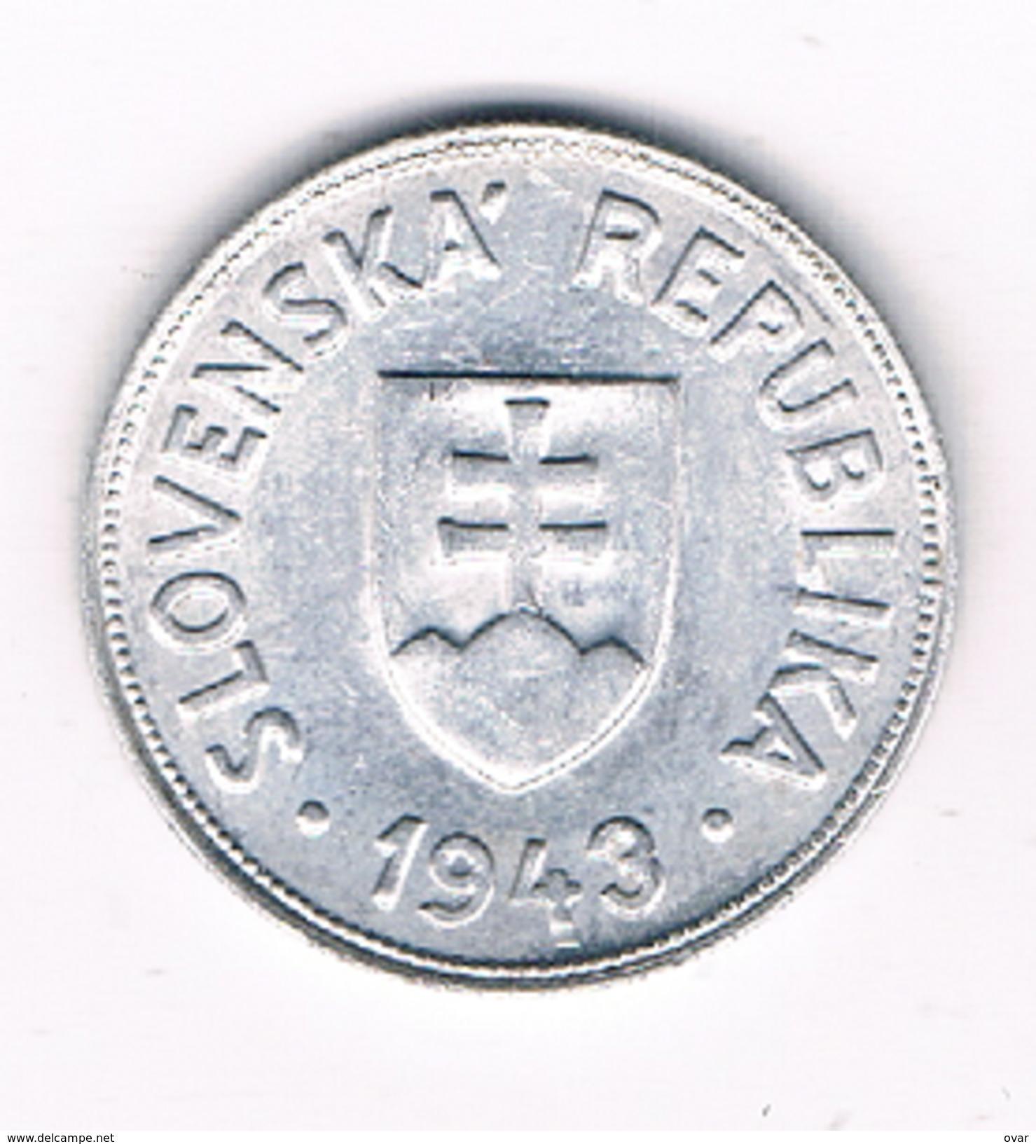 50 HALLERU 1943 SLOWAKIJE /1507C/ - Slovaquie
