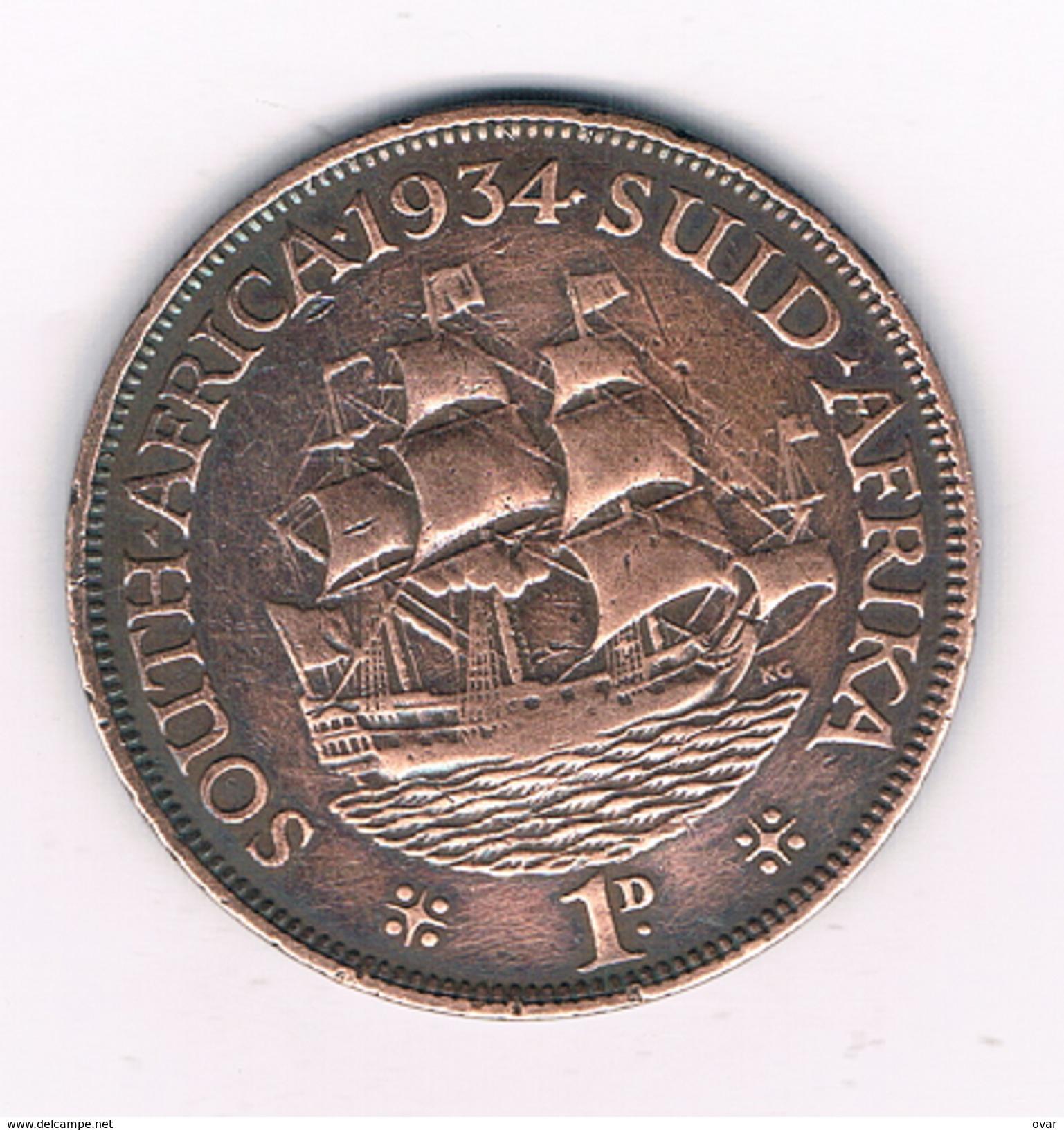 1 PENNY 1934 ZUID AFRIKA /1512C/ - Afrique Du Sud