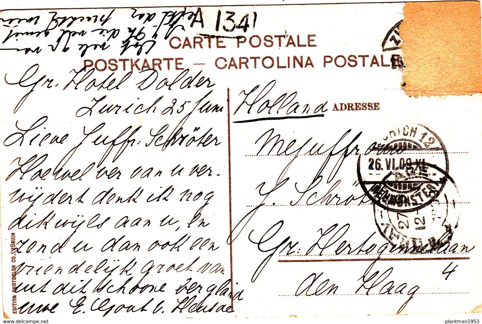Old Postcard Of Zurich, Switzerland,R39. - ZH Zurich