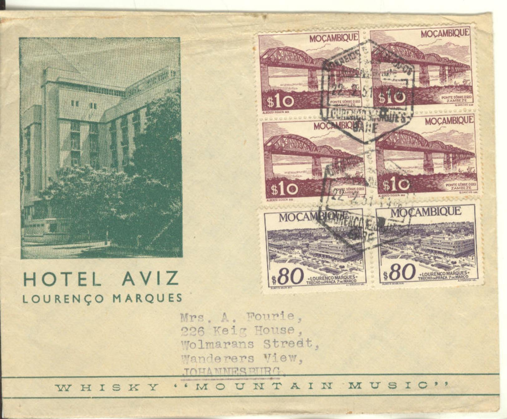 PORTUGAL: COVER HOTEL AVIZ To JHB - Mozambique