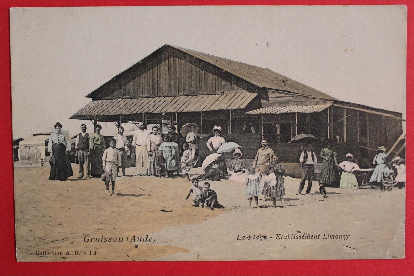 Ancienne CPA - Gruissan  - La Plage - établissement Limouzy - 1907 - Recoloré - France