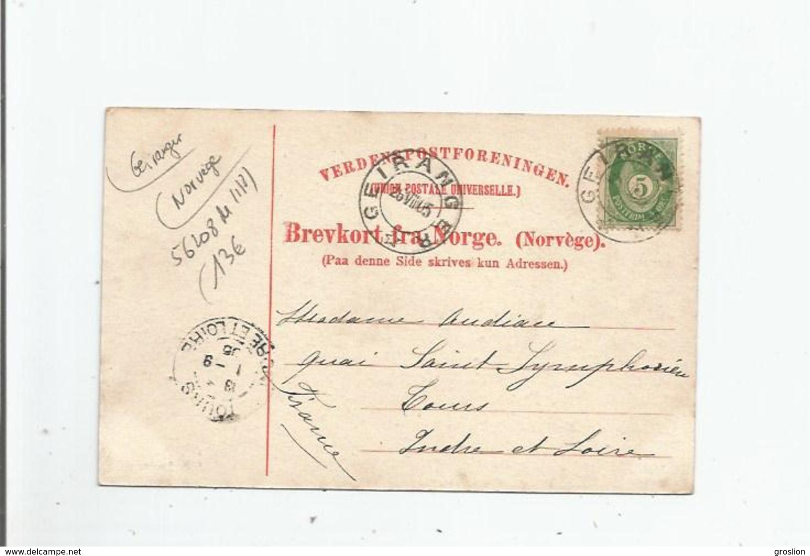 GEIRANGER 847  VED GJUPUANDET 1905 - Norvège