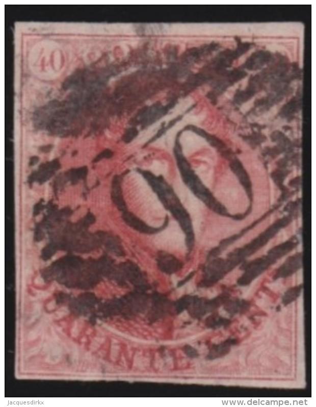 Belgie   .     OBP     8      .        O        .      Gebruikt   .   /    .   Oblitéré - 1851-1857 Médaillons (6/8)