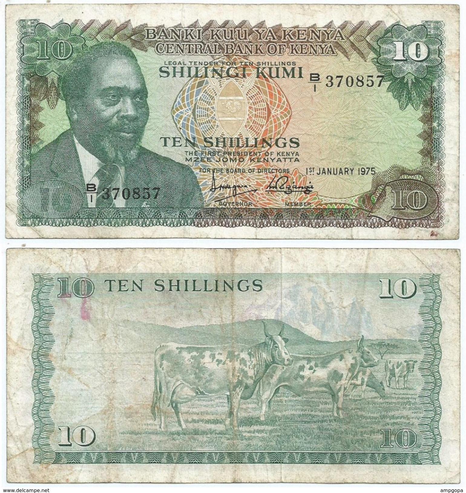 Kenia - Kenya 10 Shillings 1975 Pick 12.a Ref 282 - Kenia