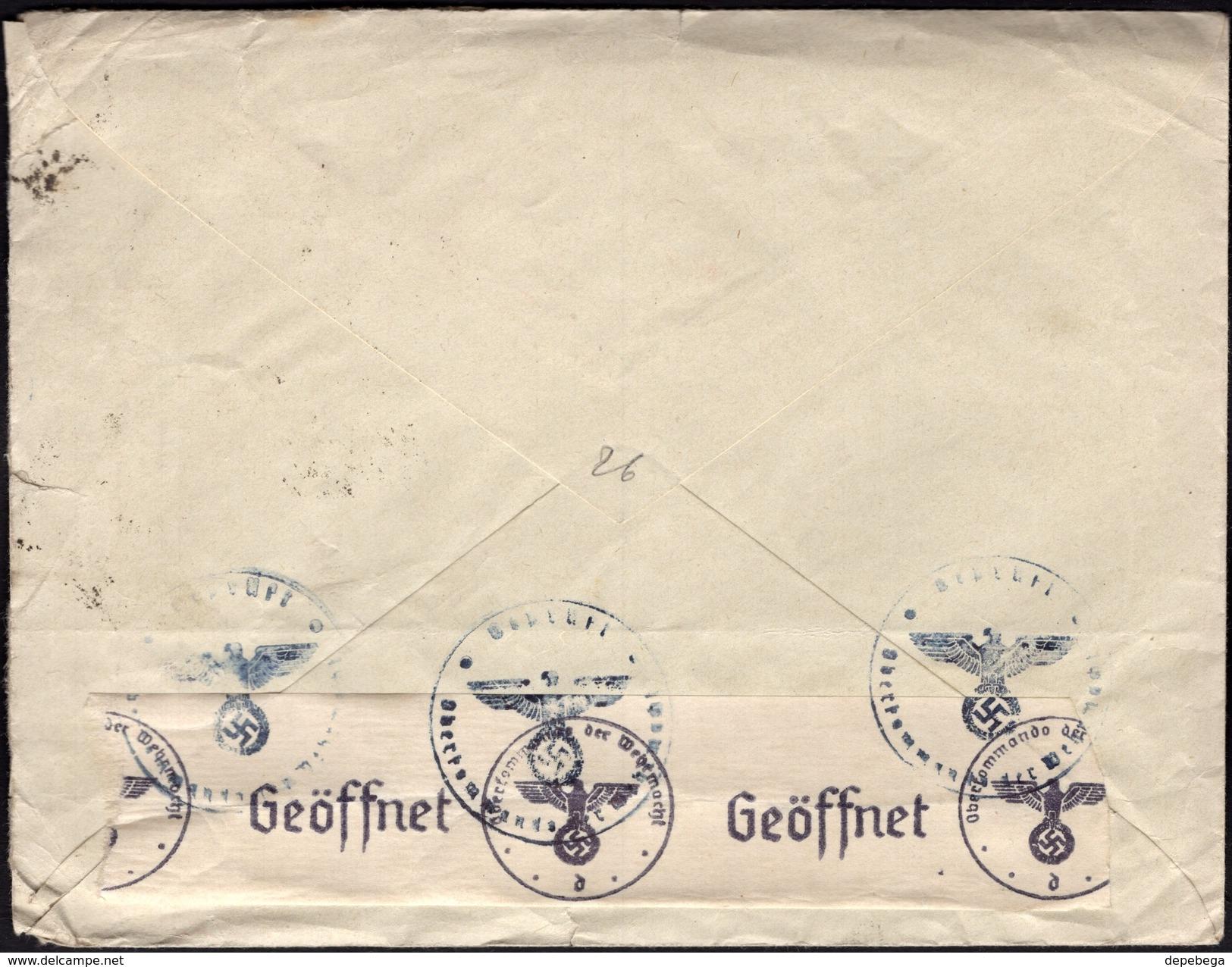 Italy - Censored Cover, 'ITALO OGLIARO' - MILANO 3.5.1941 - Schweinsburg (Mi. 623-626 MiF). - 1900-44 Victor Emmanuel III
