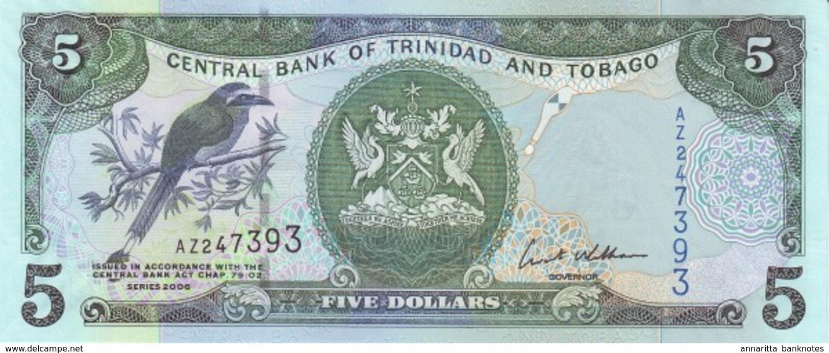 TRINIDAD & TOBAGO 5 DOLLARS 2006 P-47 UNC [ TT222a ] - Trinidad & Tobago