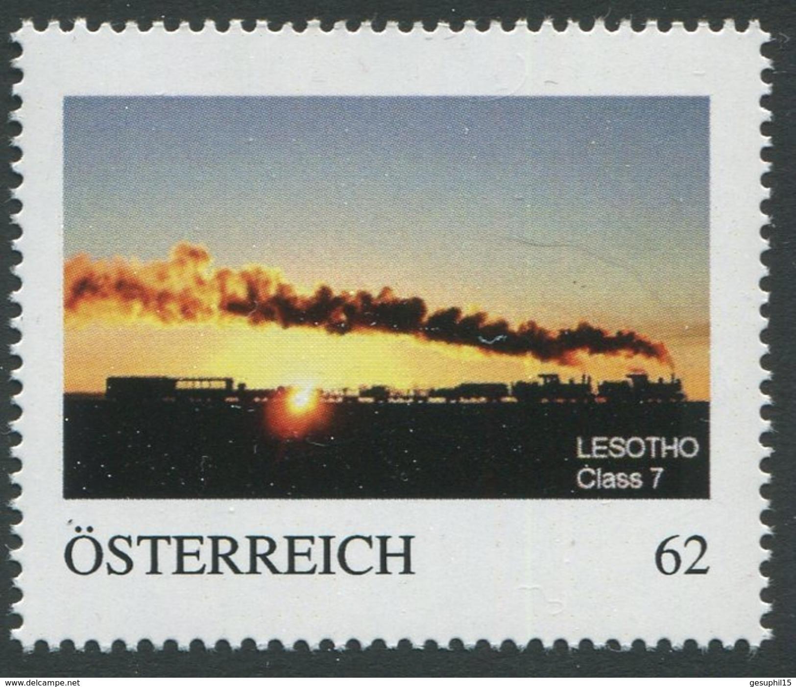 ÖSTERREICH / Lokomotive Mit Anhänger Lesotho Class 7 / Postfrisch / ** / MNH - Personalisierte Briefmarken