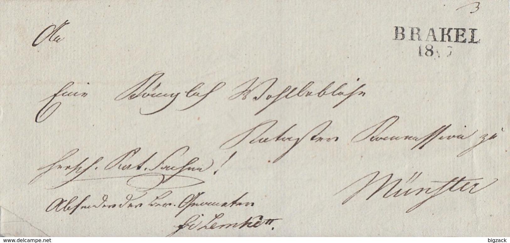 Preussen Brief L2 Brakel 18.5. Gel. Nach Münster - Preussen