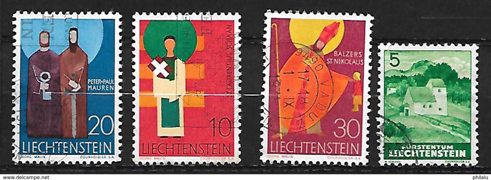 LIECHTENSTEIN  Lot De Timbres Oblitérés - Liechtenstein