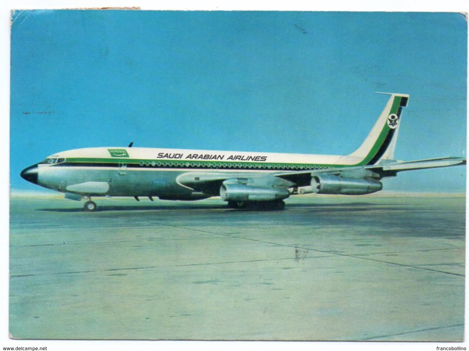 SAUDI ARABIAN AIRLINES BOEING FAN JET / AVION / AIRPLANE - Arabia Saudita