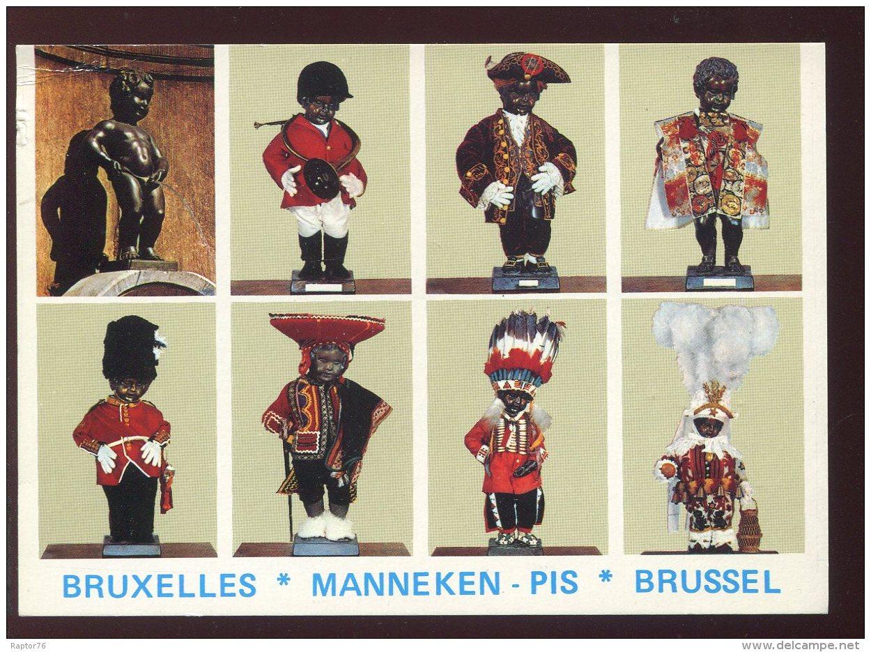 CPM Non écrite Belgique BRUXELLES Manneken Pis Multi Vues - Bruxelles-ville