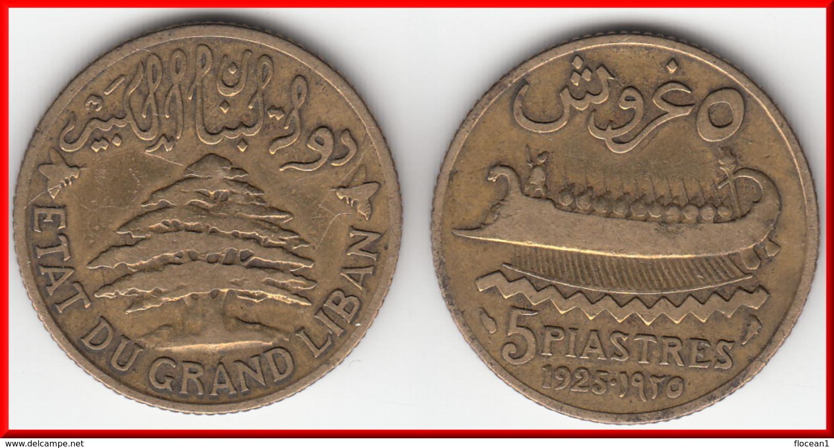 **** LIBAN - LEBANON - 5 PIASTRES 1925 **** EN ACHAT IMMEDIAT !!! - Liban