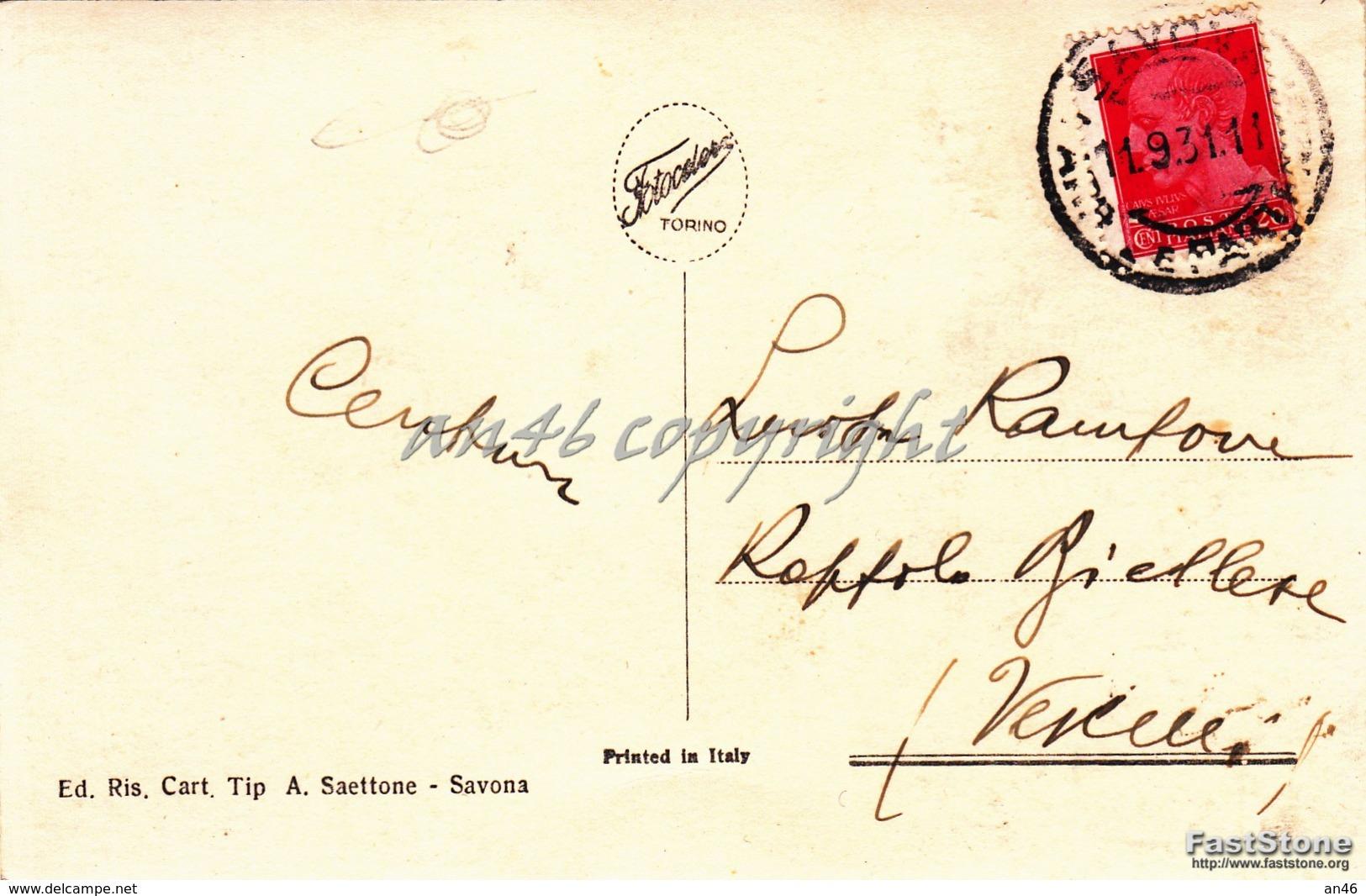 Savona_Dal Cole Dei Capuccini_Vg Il 11/09/1931_Antica Originale-2 Scan- - Savona