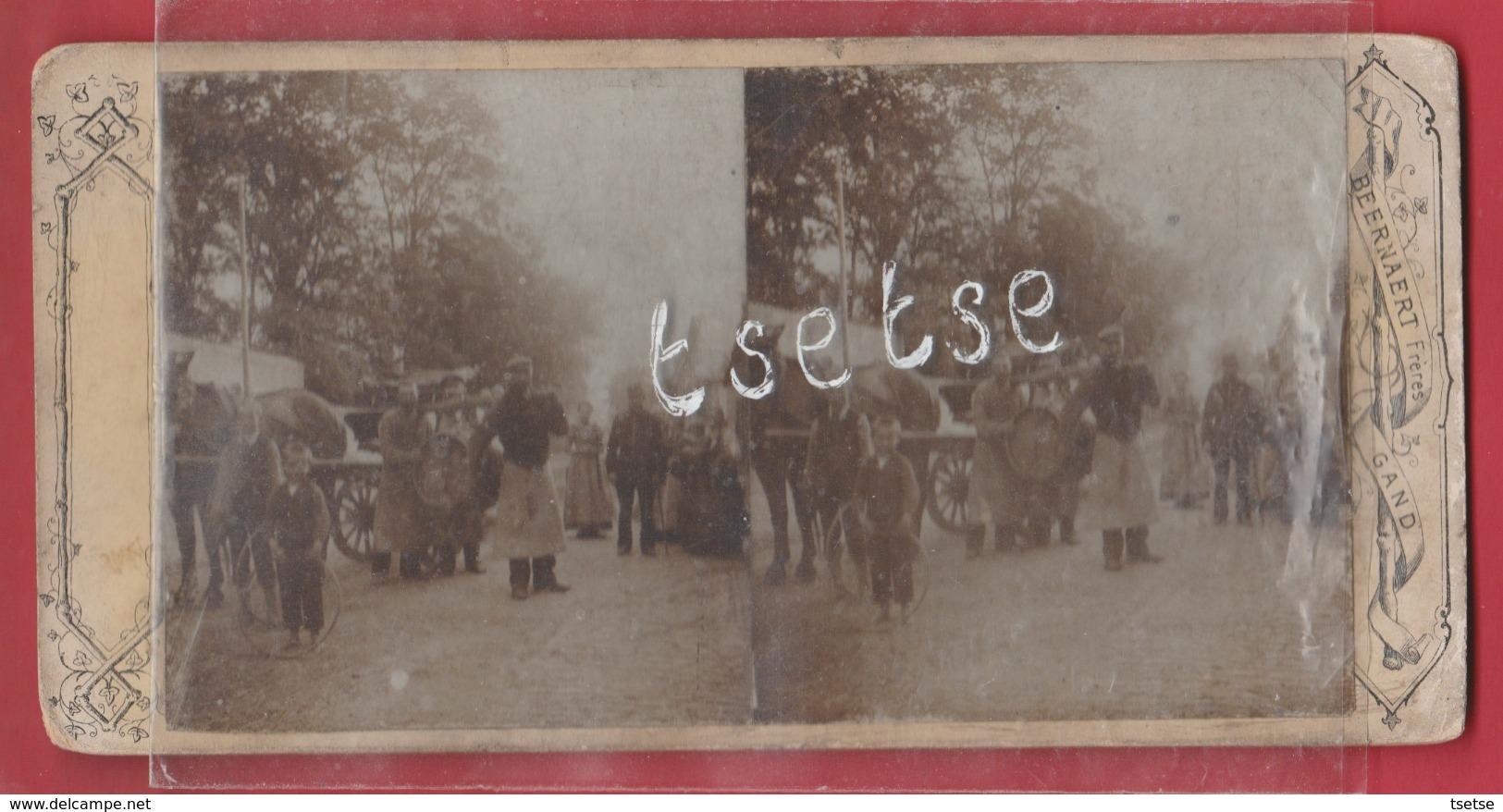 Gent - Brouwers ... Karton  2 Foto's -17,4 Cm / 8,7 Cm ( Verso Zien ) - Gent