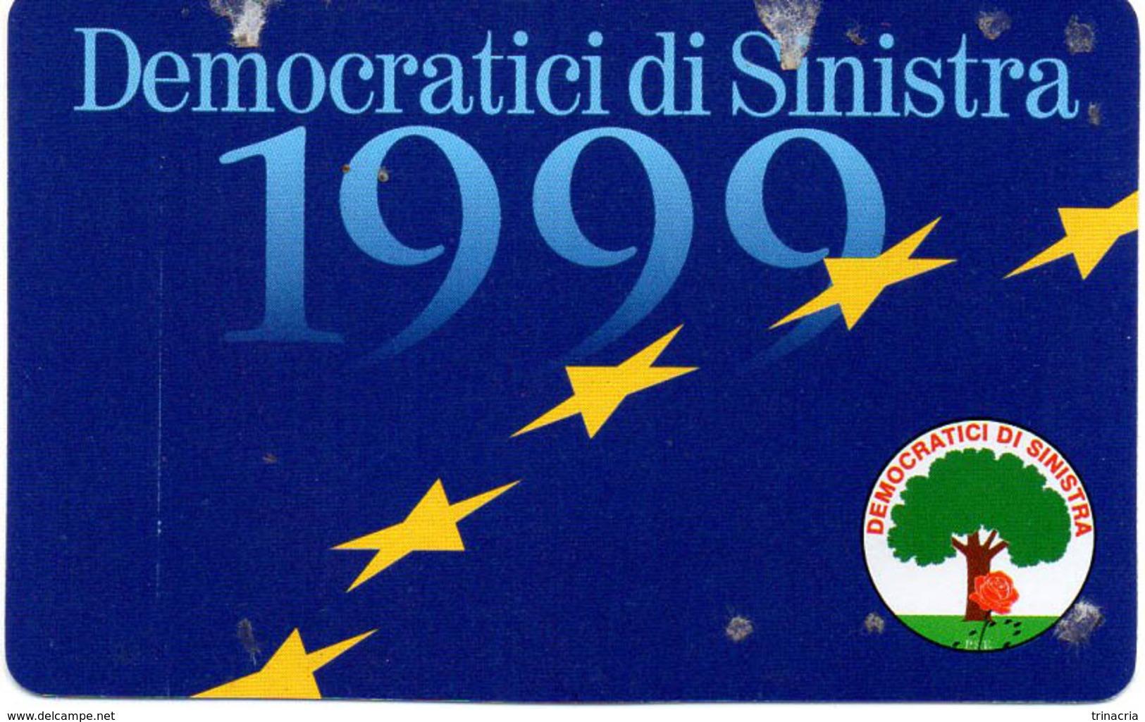 TESSERA D.S.1999 (DEMOCRATICI SINISTRA) - Documenti Storici