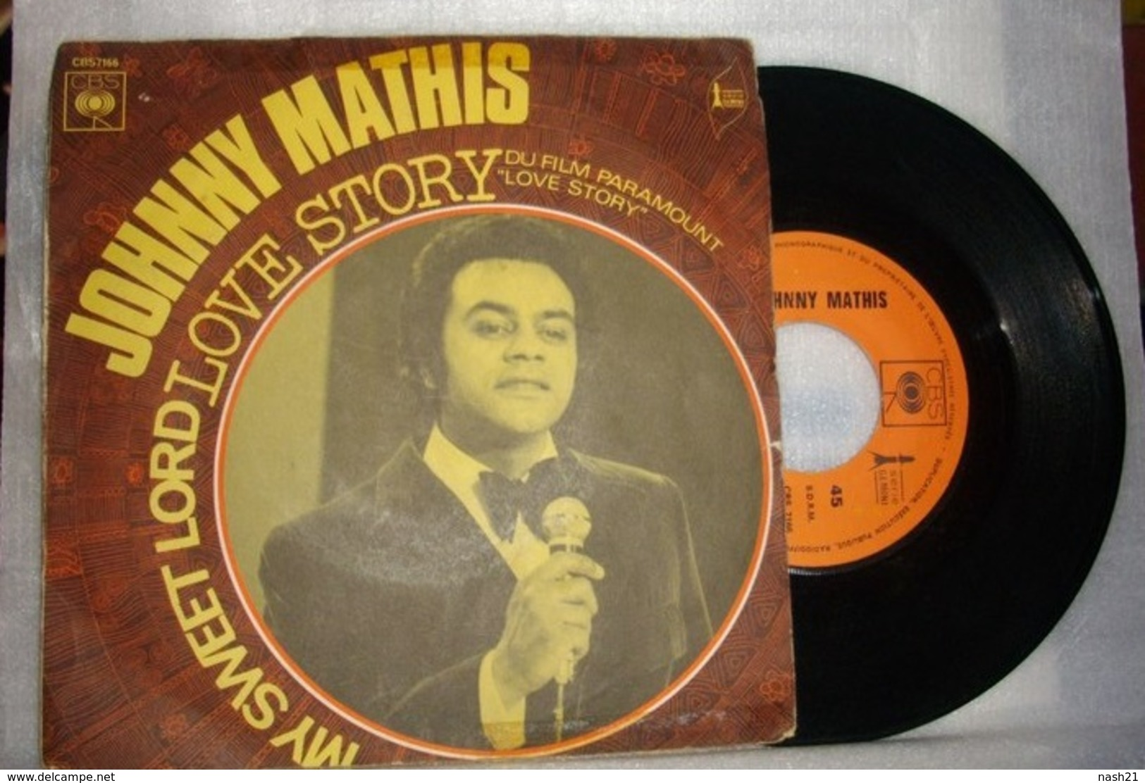 1994 - Disque 45 T -  ' My Sweet Lord ' Par Johnny Mathis - Disco, Pop