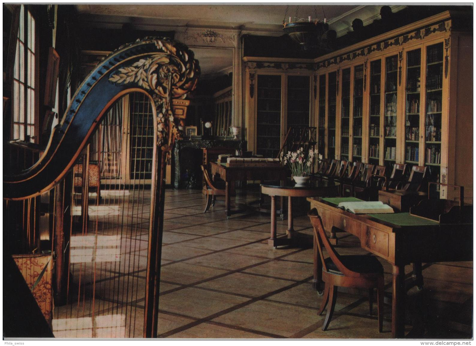 Chateau De Coppet - La Bibliotheque - Photo: Arnoldo Mondadori - VD Vaud
