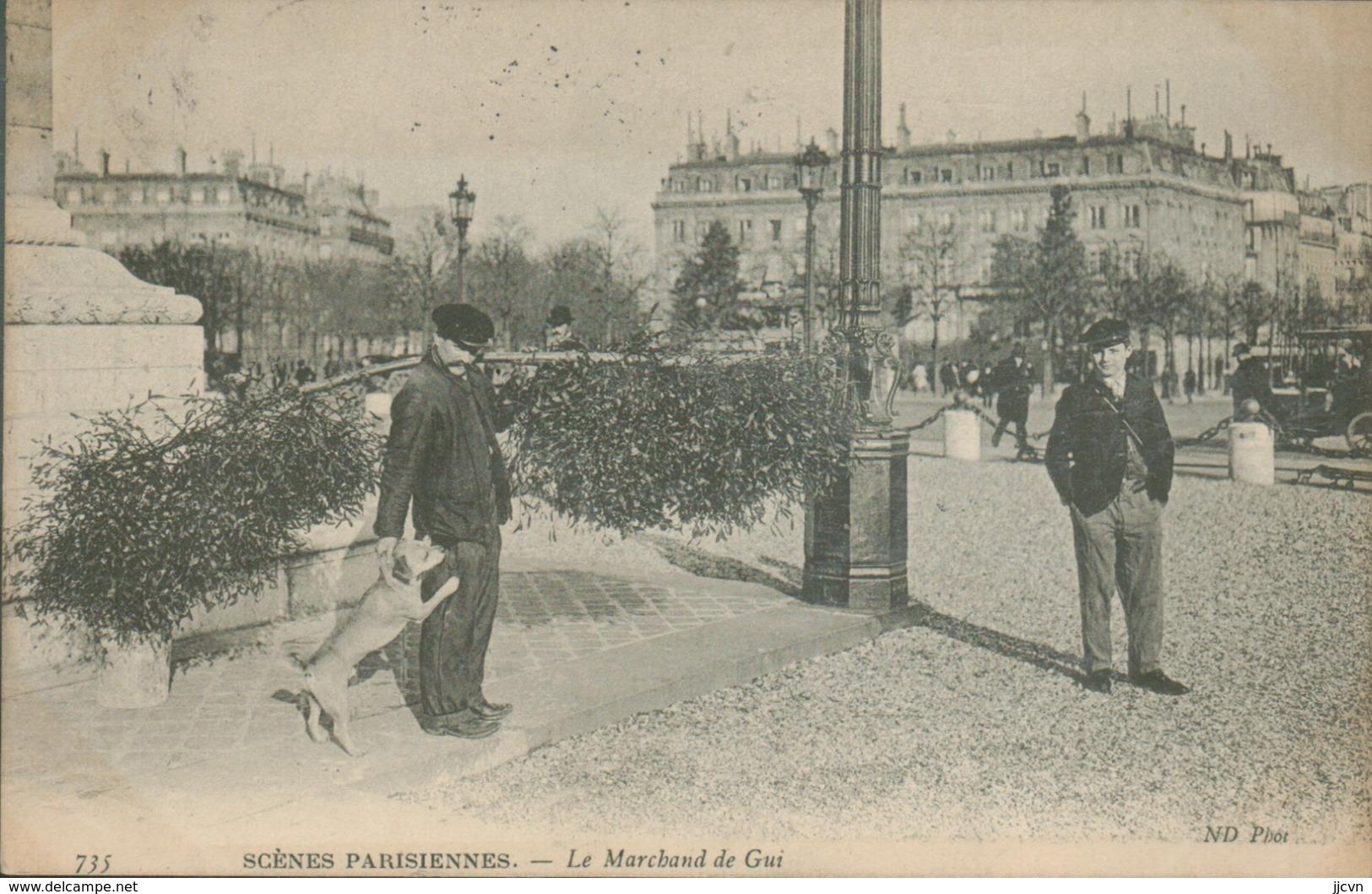 75 - Paris - Scènes Parisiennes - Le Marchand De Gui - Petits Métiers à Paris