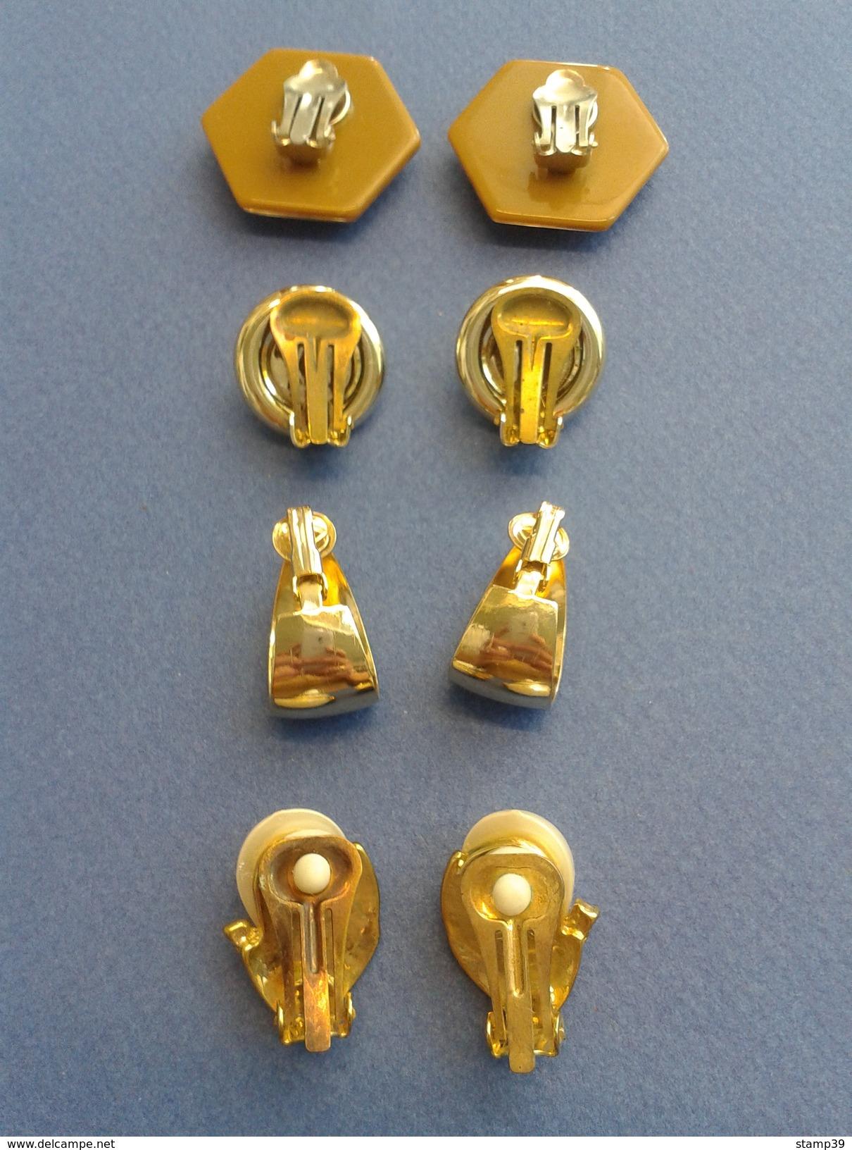 Lot De Plusieurs Boucles D'oreilles Vintage En Plaqué - Orecchini