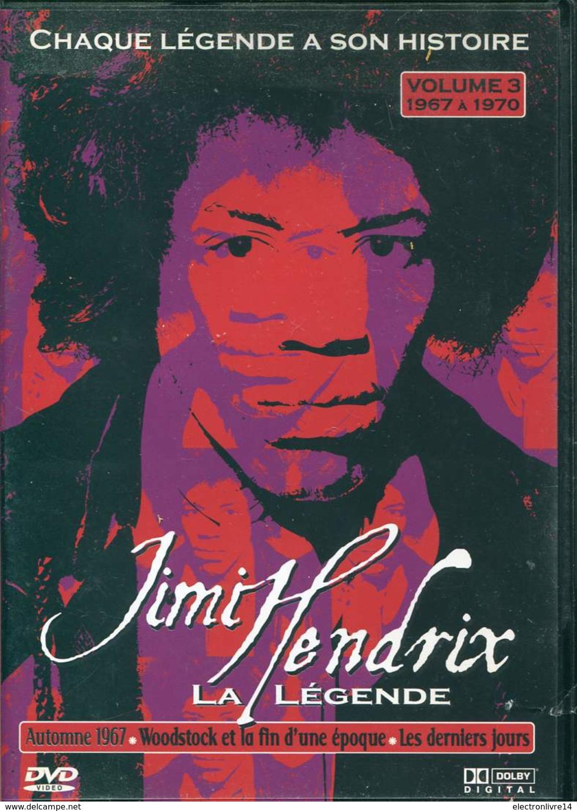 3 Dvd Complet Documentaire Jimy Hendrix La Legende Vf Vostf - Musik-DVD's