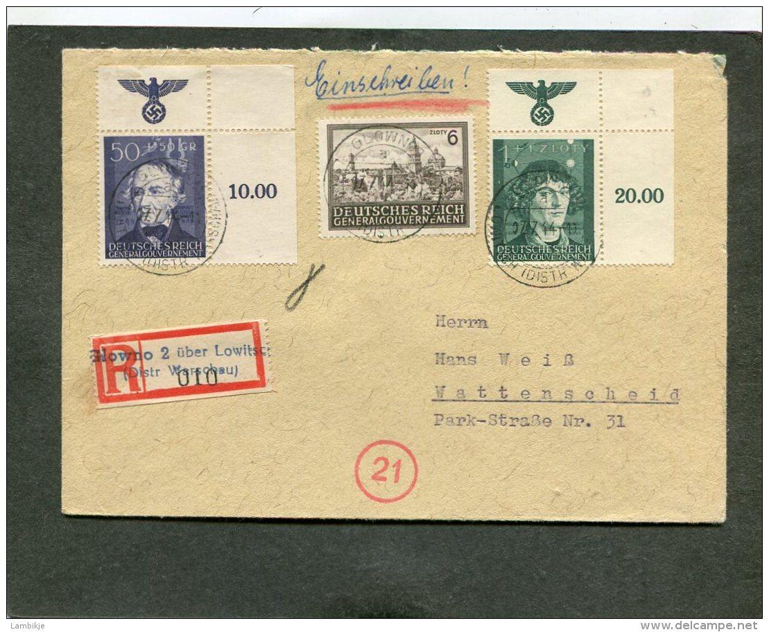 Deutsches Reich General Gouvernement  R Brief 1944 - Briefe U. Dokumente