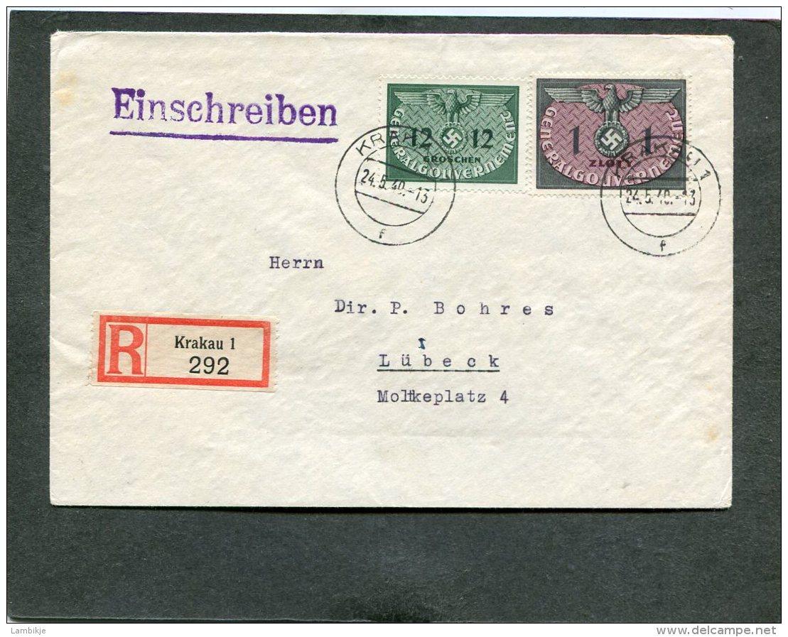 Deutsches Reich General Gouvernement  R Brief 1940 - Deutschland