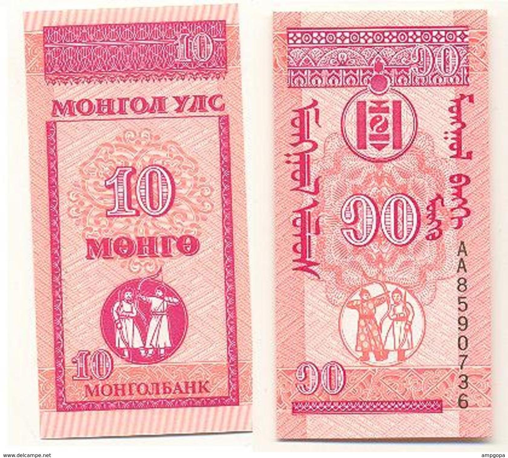 Mongolia 10 Mongo 1993 Pick 49 UNC - Mongolia