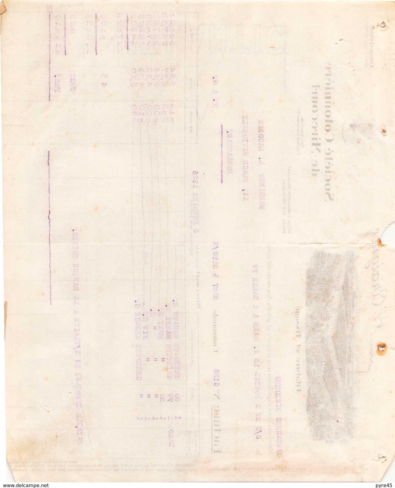 Facture L'Araignee Societe Cotonniere De Mirecourt  Filature Et Tissage Le 5 Fevrier 1926 - Kleidung & Textil