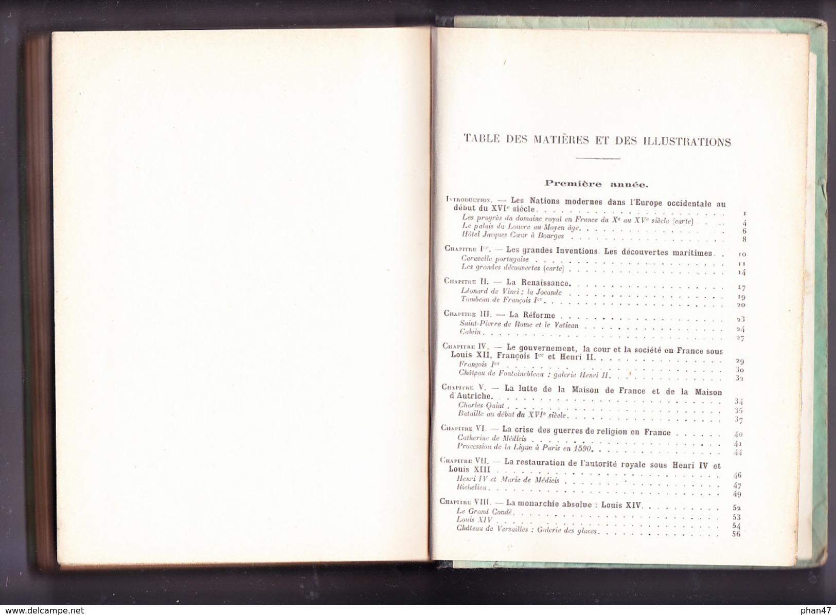 HISTOIRE: Préparation Au B.E, B.E.P.C. Et E.N., Par A. HUBY Et C. VIDAL, Ed. Delagrave 1937 - Livres, BD, Revues