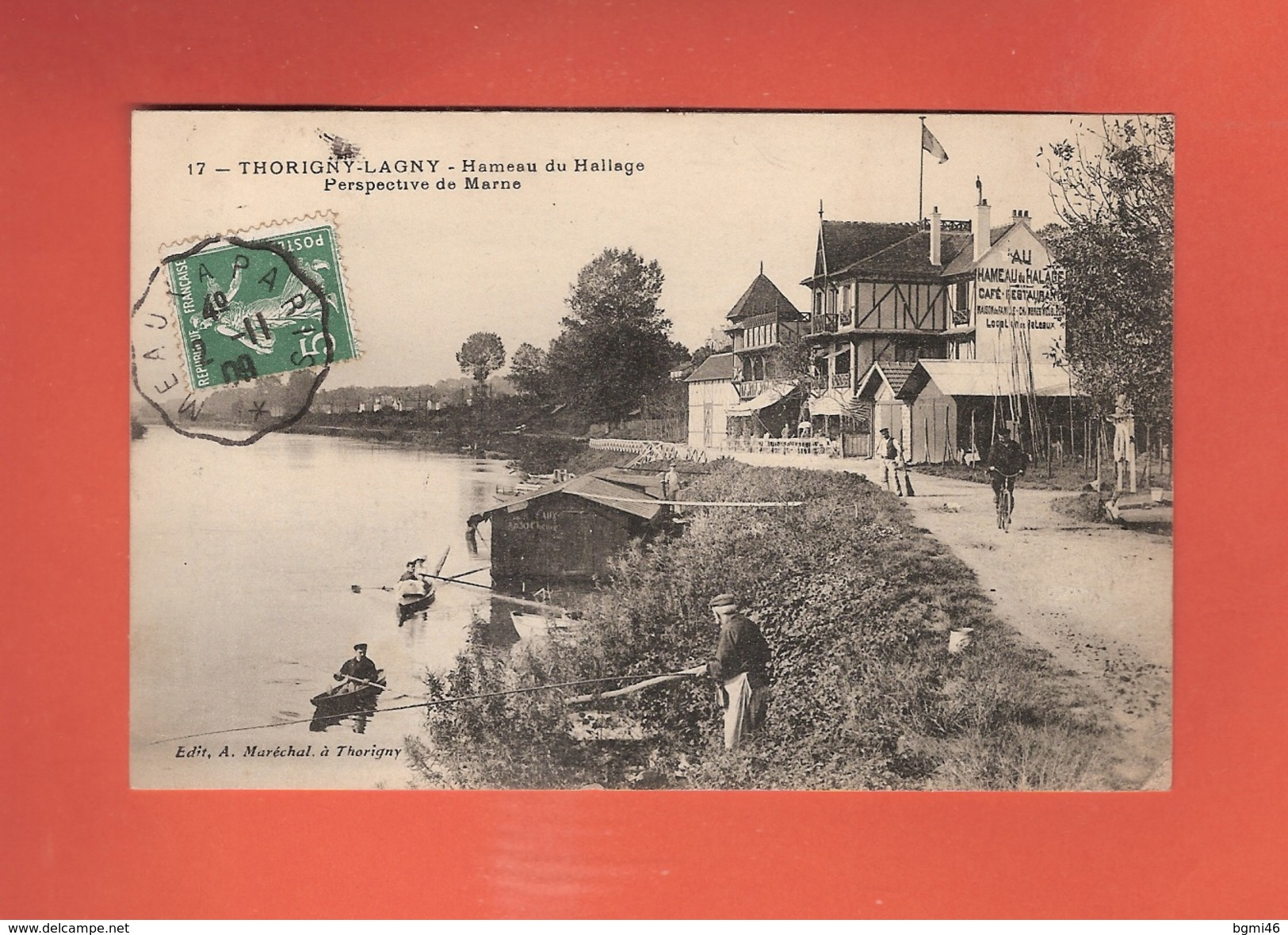 * CPA..dépt 77..THORIGNY - LAGNY :  Hameau Du Hallage - Perspective De Marne..n°17  : Voir 2 Scans - Autres Communes