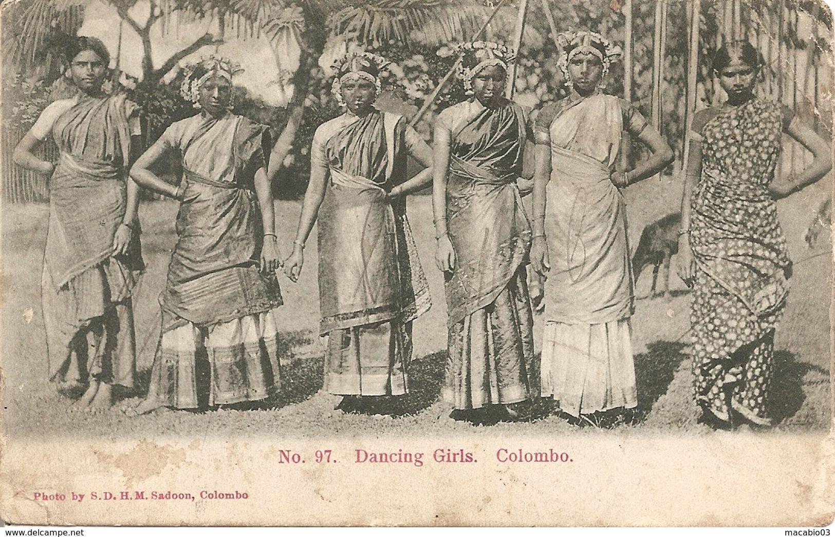 Asie- CEYLAN :  Colombo  Dancing Girls   Réf 3006 - Cartes Postales