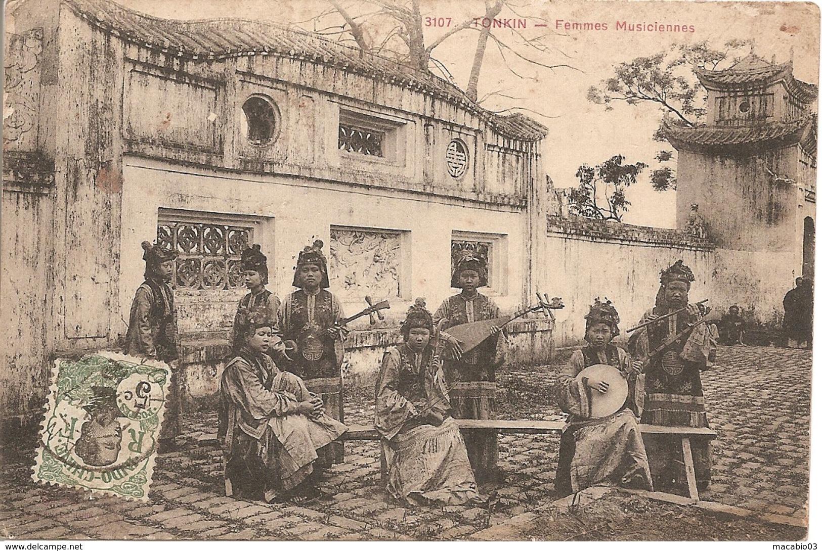 Asie:  Indo-Chine Française  -  Tonkin - Femmes Musiciennes  Réf 3008 - Cartes Postales