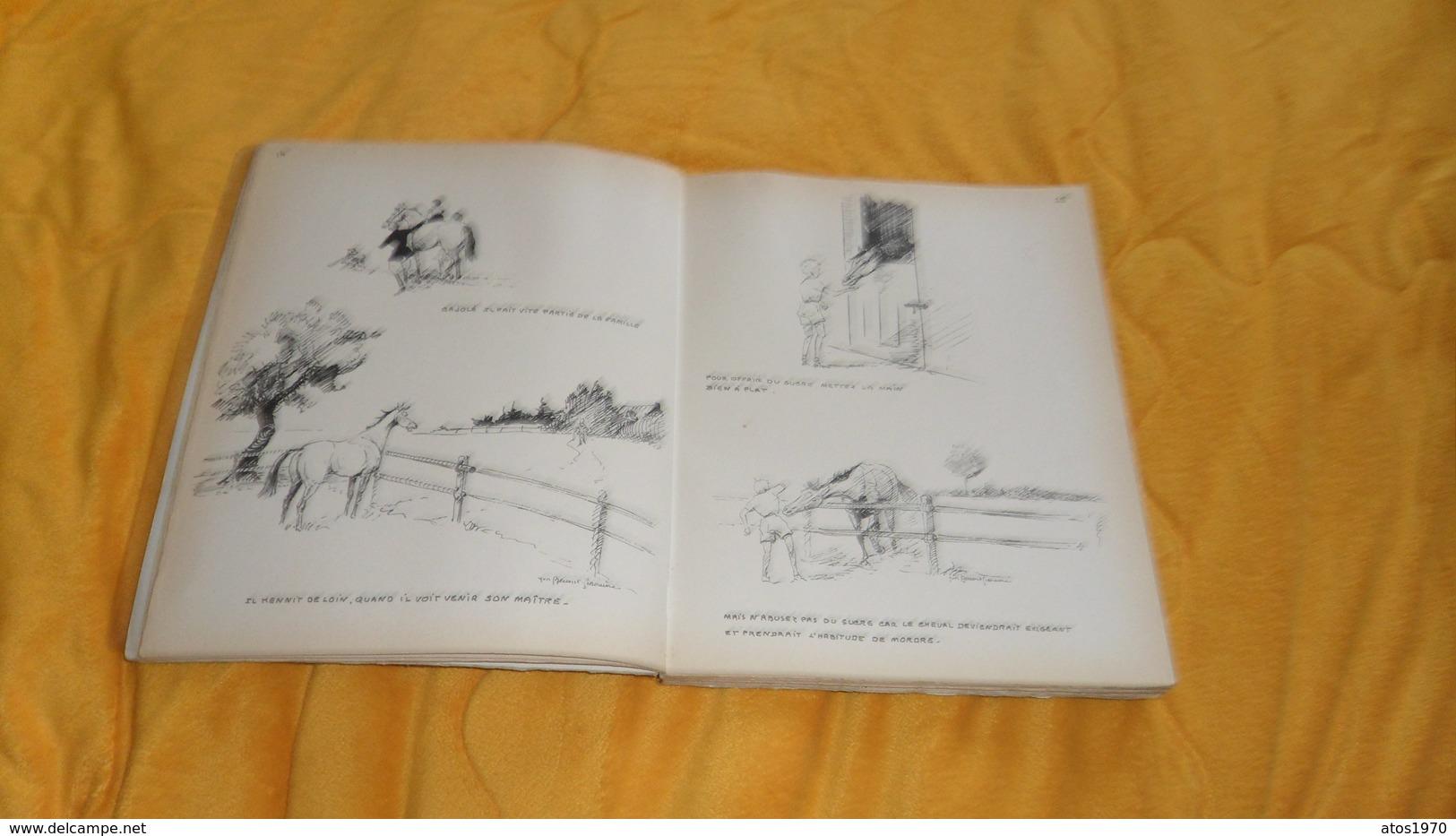 LIVRE ANCIEN DE 1963. / CHEVAL MON CHER SOUCI. 500 CROQUIS LEGENDES SUR LES SOINS AUX CHEVAUX. / YVES BENOIST GIRONIERE. - Animaux