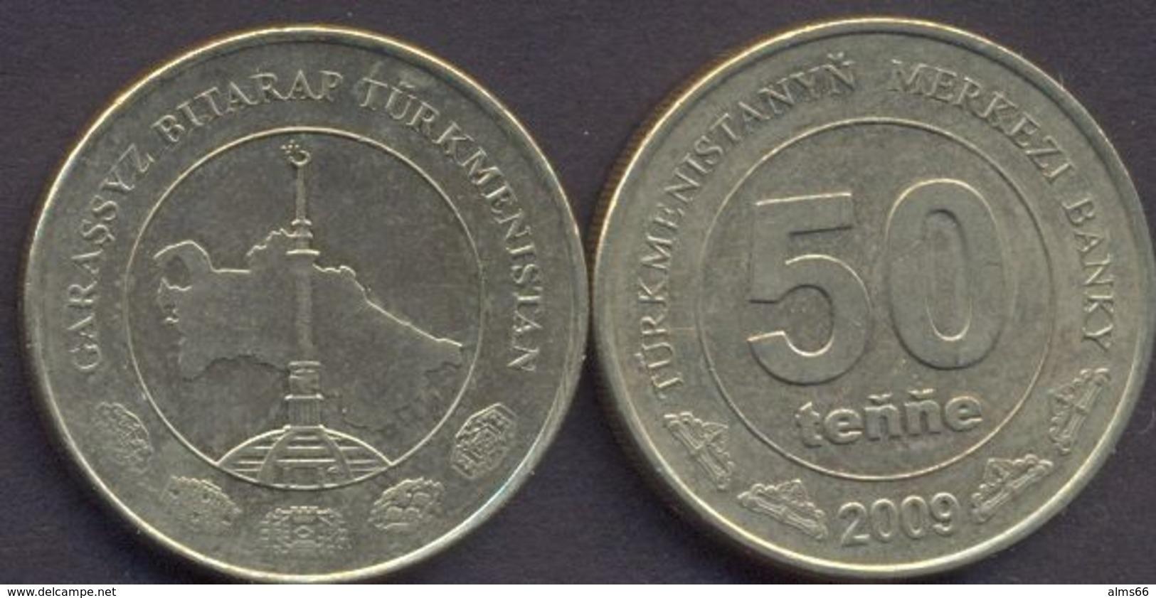 Turkmenistan 50 Tenne 2009 VF  < Tenge > - Turkménistan