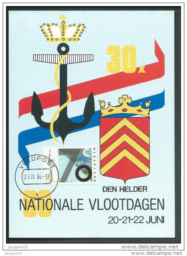 Nederland Kaart Tgv Nationale Vlootdagen 1986 Den Helder Met Zegel NVPH 1347 - 1980-... (Beatrix)