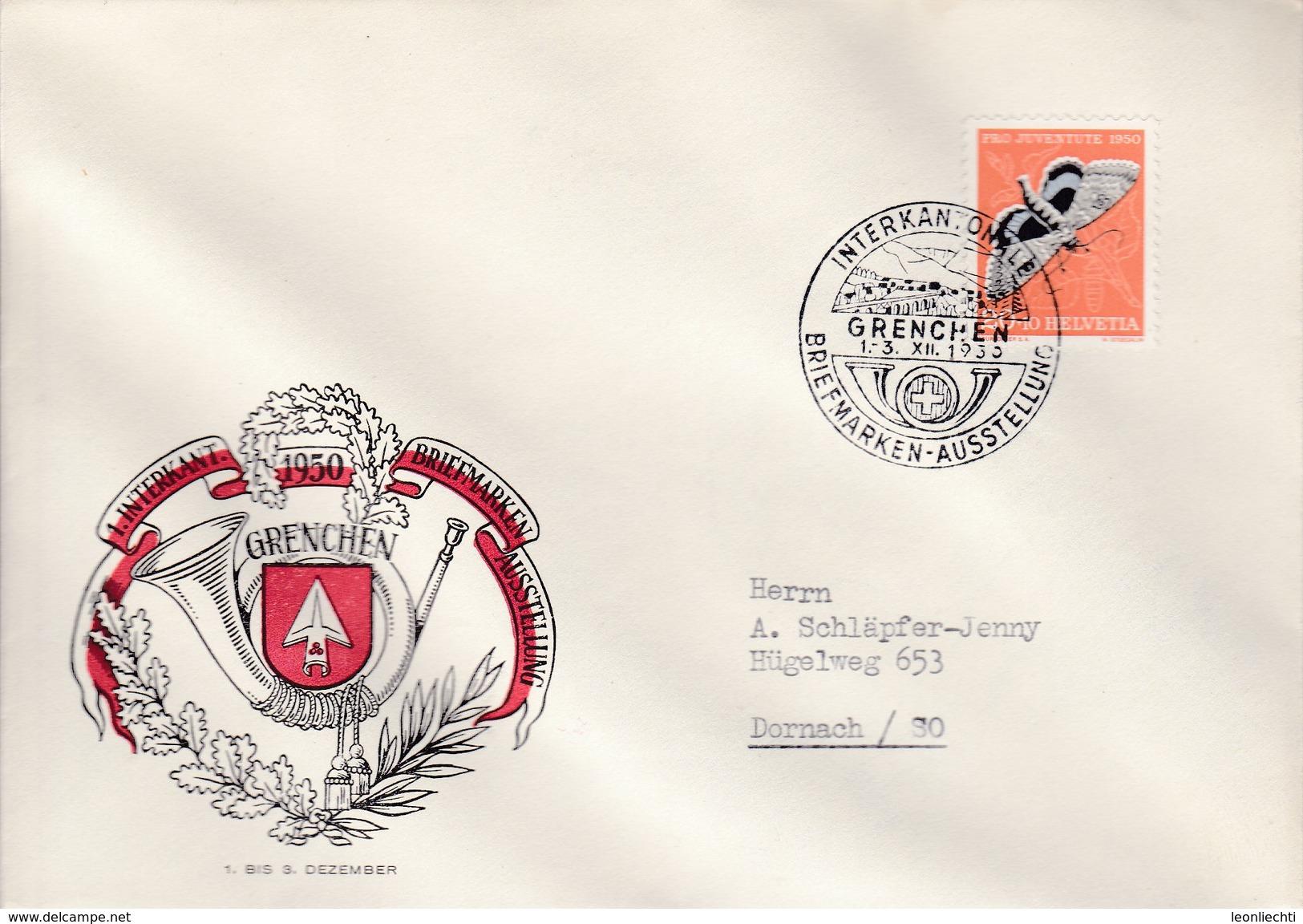 Interkantonale Briefmarken - Ausstellung Grenchen Vom 1-3 XII. 1950. SBK: J 135 Mi: 552 - Suisse