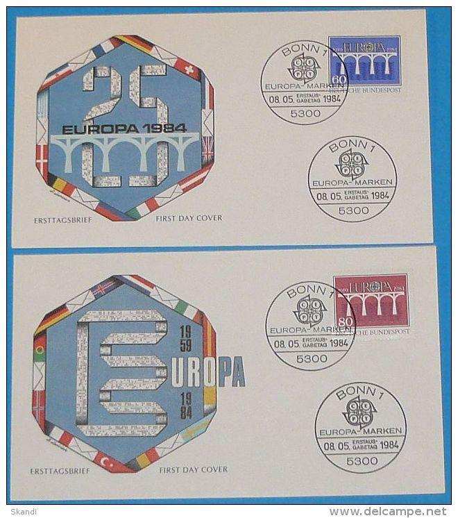 DEUTSCHLAND 1984 MI-NR. 1210/11 CEPT FDC - 1984