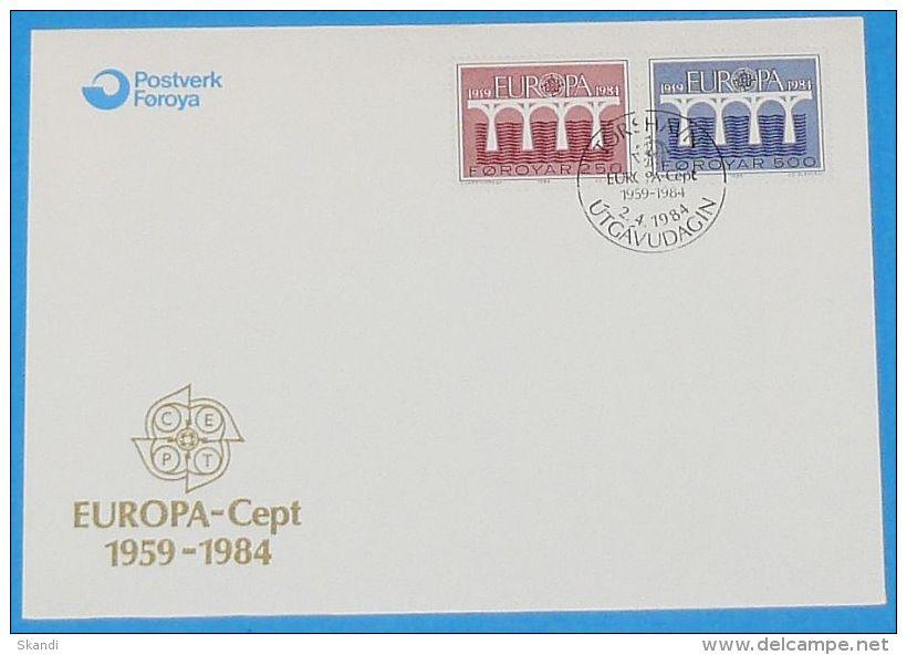 FÄRÖER 1984 MI-NR. 97/98 CEPT FDC - Europa-CEPT
