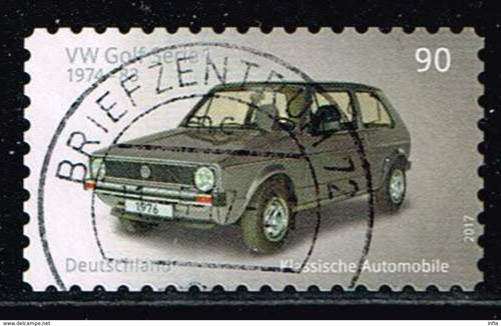Bund 2017, Michel# 3302 O  VW Golf, Selbstklebend, Self-adhesive - BRD