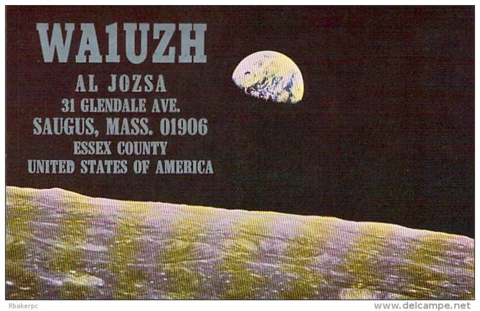 Amateur Radio QSL - WA1UZH - Saugus, MA -USA- 1977 - 2 Scans - Radio Amateur