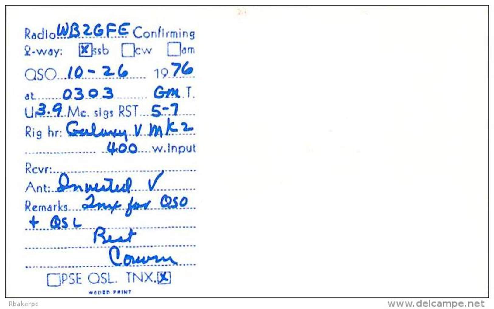 Amateur Radio QSL - AA0LRQ / WA0LRQ - Maxwell, NE -USA- 1976 - 2 Scans - Radio Amateur