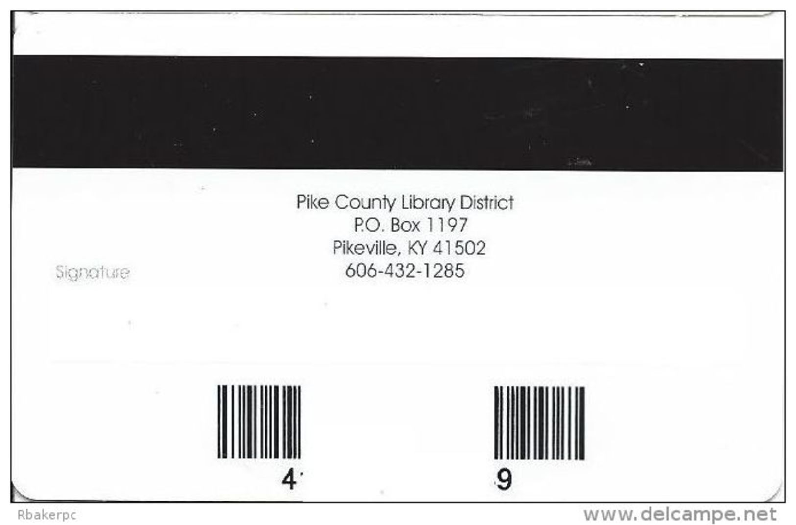 Library Card - Pike County Public Library District KY - Other Collections