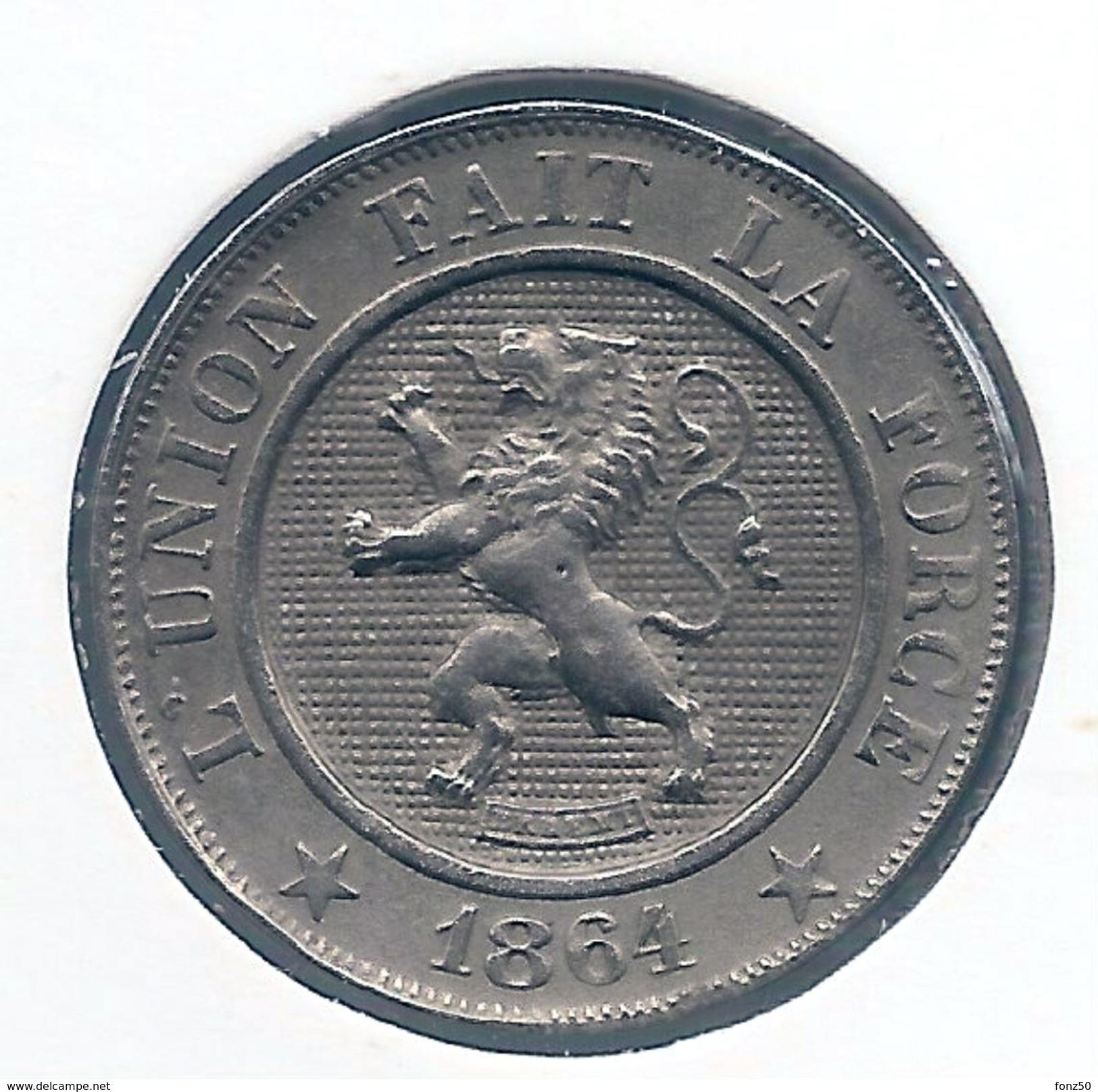 LEOPOLD I * 10 Centiem 1864 * Prachtig * Nr 8277 - 1831-1865: Léopold I