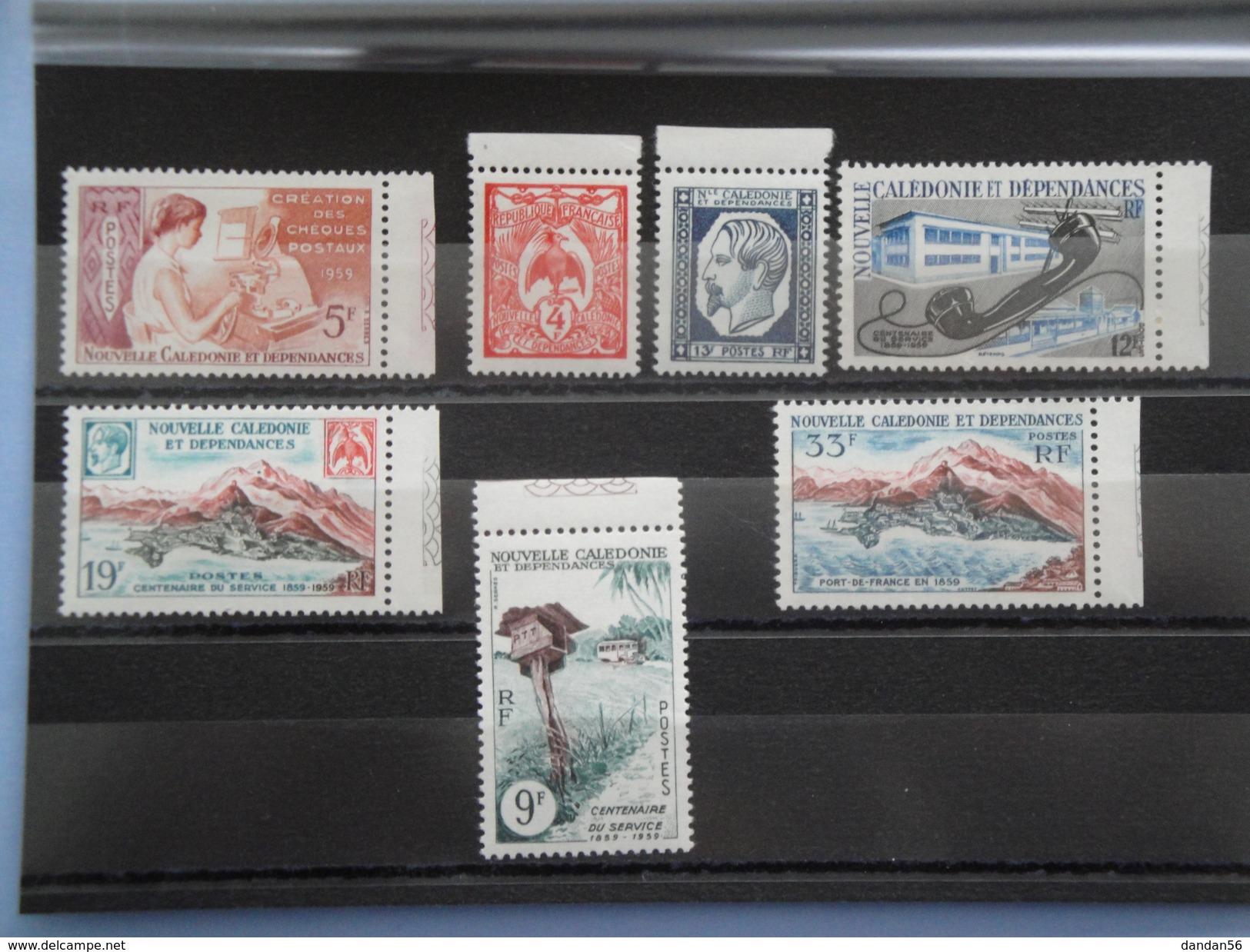 1960 Nouvelle Calédonie Yvert  295/01 ** Centenaire De La Poste Scott 311/7 Michel 370/6  SG 358/64 - Nouvelle-Calédonie
