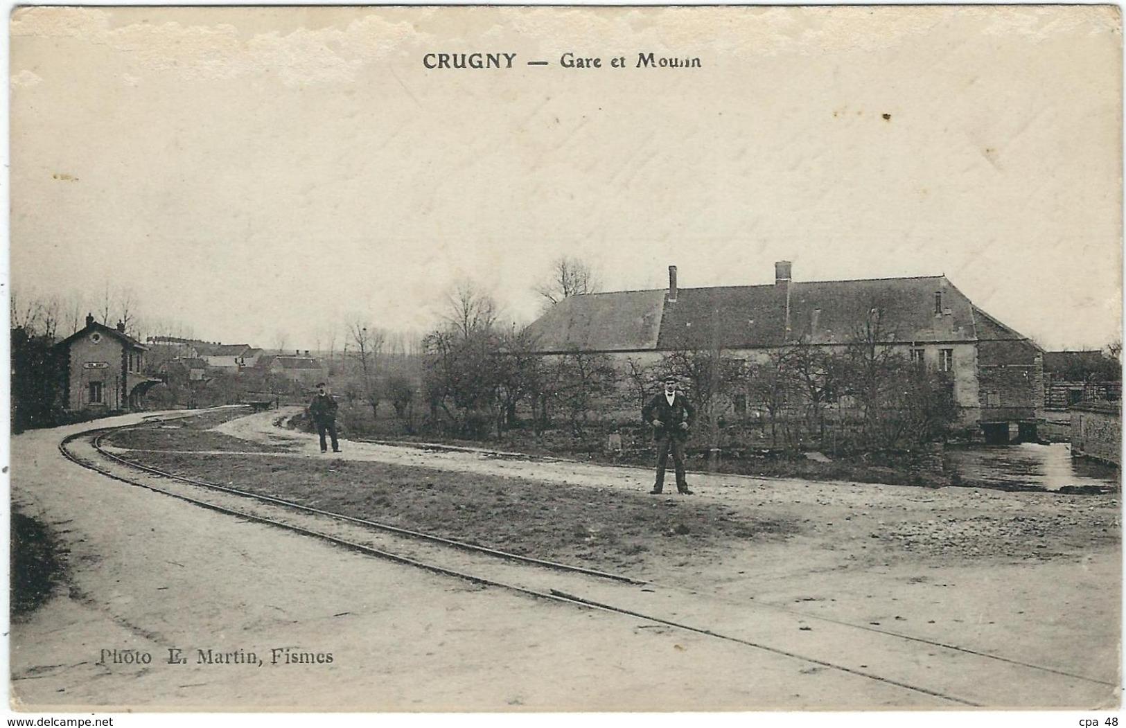 Marne : Crugny, Gare Et Moulin - France