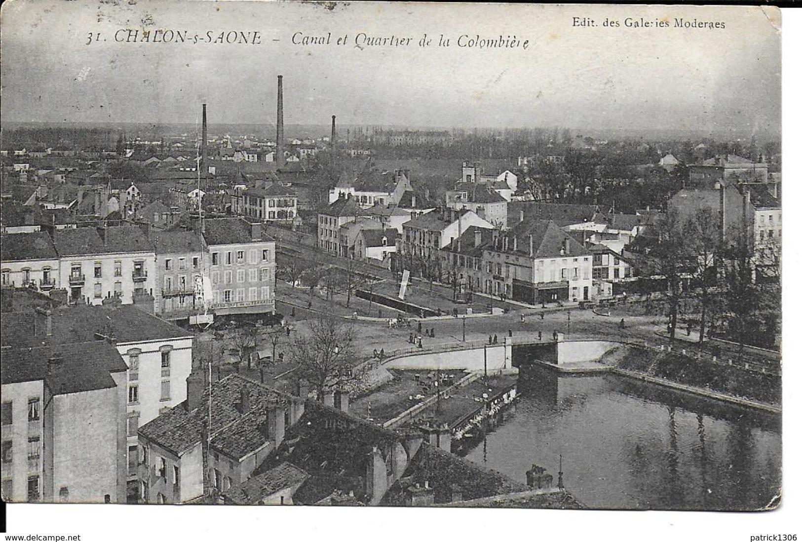 CPA CHALON SUR SAONE, Canal Et Quartier De La Colombière  10286 - Chalon Sur Saone