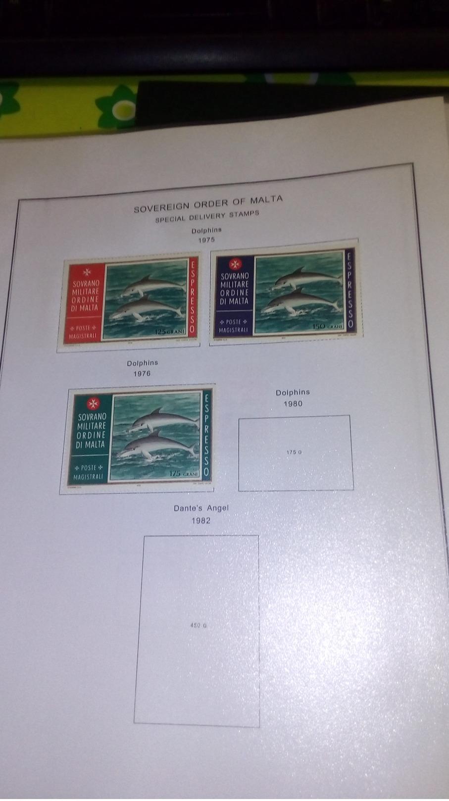 Smom 1966/1988 Stamps Collection In Album Scott.Nuovi See Scans - Sovrano Militare Ordine Di Malta